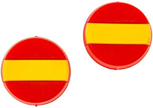 4MA Tennis demper set van 2 nationale vlaggen verschillende landen (Duitsland, Frankrijk, Oostenrijk, Italië, VS, Zwitserland en Spanje)