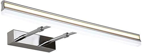Spiegelkoplamp, LED, badkamer, make-up, lamp, kastlamp, moderne, minimalistische wandlamp, waterdicht, anti-condens, spiegel, koplampen, warm wit licht, rollsnownow (maat: 60cm 12W)