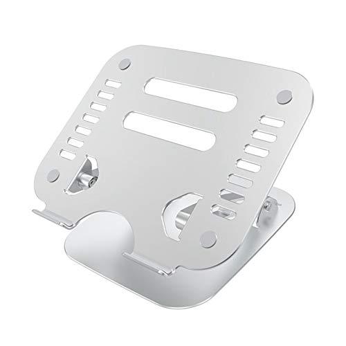 IPOTCH Soporte portátil para Ordenador portátil, Soporte para Tablet, Soportes de Aluminio Ajustables para Ordenador portátil, Soporte de Escritorio Plegable