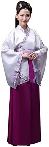 OKZH Hanfu Chino Mujer Antiguo Chino Hanfu Weijin Hanfu Traje De Actuacin Retro Disfraz Juego Cosplay Falda Prpura Trompeta