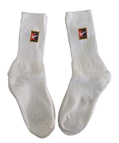 Nike Supreme Court Challenge Pete Sampras - Calcetines de tenis con logo blanco (2 pares)