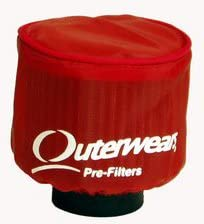 Red Outerwear Prefilter With Top Round 3 Diameter 10-1100-03