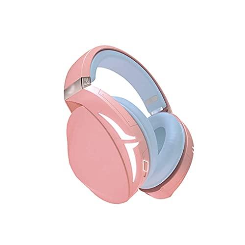 Bktmen Head Phones 7.1 Filaire Virtual Surround Sound Gaming Headset protéines Oreillettes sur-Ear pour PC PS4 Casque d'ordinateur Portable (Color : Pink)