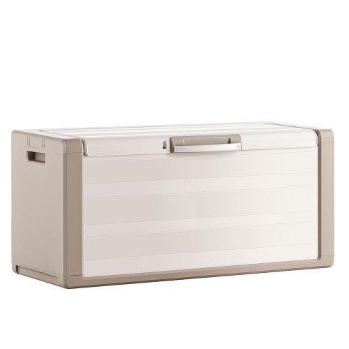 KIS - Baúl arcón de resina Gulliver–Dimensiones 118x 49x 55cm - Arcón de resina para exteriores e interiores, 9753