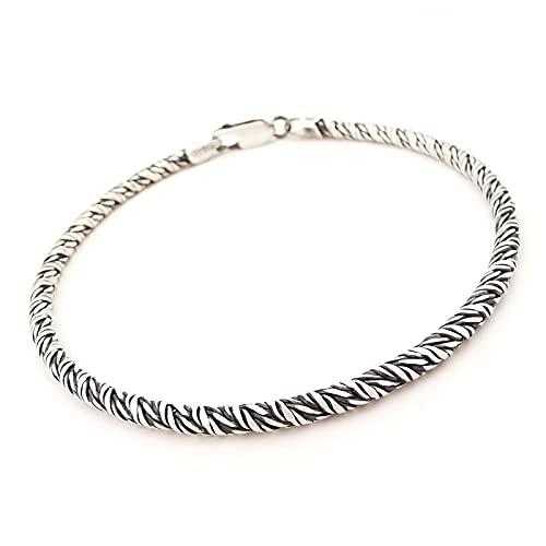 Bracciale da Uomo in Argento Vero 925 braccialetto catena anallergico
