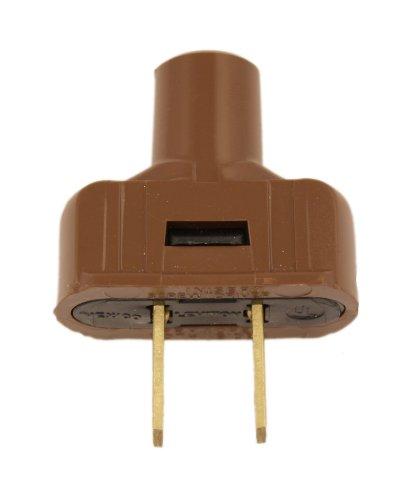 Leviton 48643 15 Amp, 125 Volt Non grounding plug, Brown