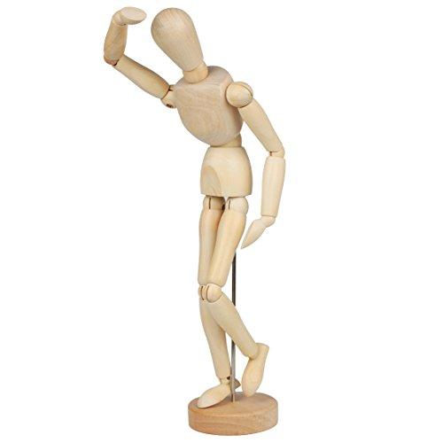 Larcele Articulaciones Humanas de Madera Maniquíes MRMX-01 (32cm)