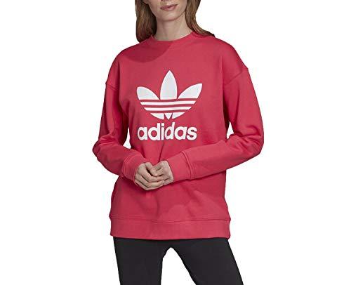 adidas TRF Crew Sweat Sudadera, Powpnk/Blanco, 54 para Mujer