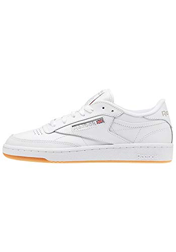 Reebok Club C 85, Sneaker Donna, Bianco (White/Light Grey/Gum), 38 EU