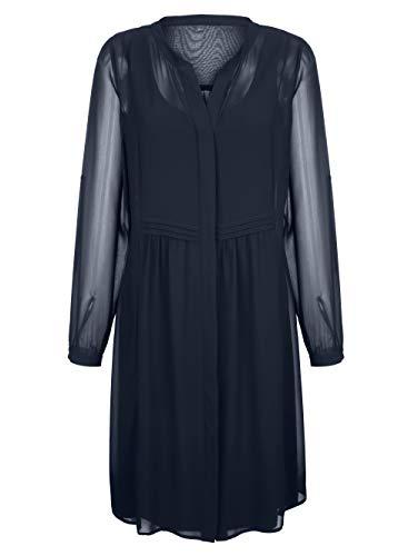 Alba Moda Kleid in Lagenoptik Marineblau