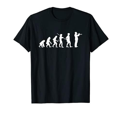 Evolution Trompete Funny T-Shirt Musiker Blues Jazz Geschenk