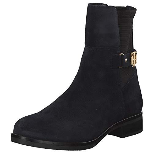 Tommy Hilfiger FW03066 - Damen Schuhe Stiefeletten - 403-midnight, Größe:38 EU