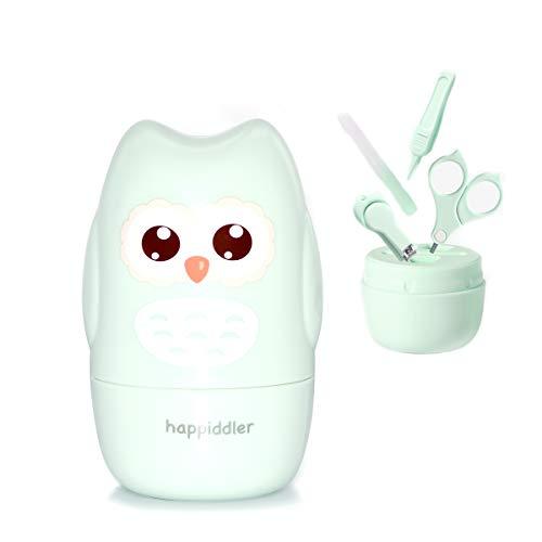 Baby 4in1 Nagelknipser, Neugeborene set, für Fingernägel und Fußnägel mit Baby Nagelknipser, Nagelschere, Nagelfeile und Pinzette für Kinder und Kleinkinder