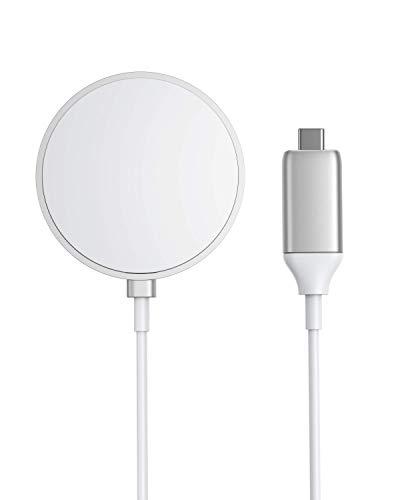 Anker PowerWave Magnetic Pad(マグネット式ワイヤレス充電器) iPhone 12 シリーズ対応 最大7.5W 出力 シルバー