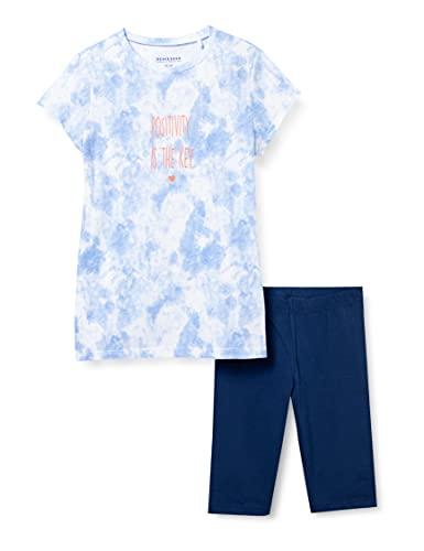 Schiesser Mädchen Schlafanzug kurz Pyjamaset, hellblau, 164