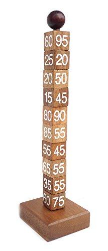 Logica Spiele Art. Mathematischer Turm - Denkspiel - Schwierigkeit 5/6 Unglaublich - Knobelspiel - Geduldspiel Aus Holz