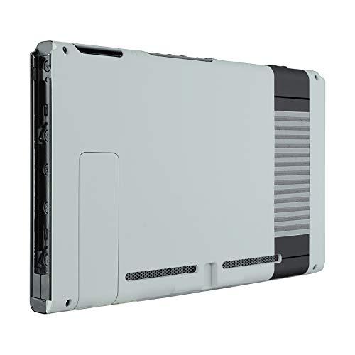 eXtremeRate Case für Nintendo Switch Console,Hülle Rückseites Gehäuse Case Schale Cover Schutzhülle Tasche für Nintendo Switch Console mit Ständer(Classics NES)-Keine JoyCon Hülle