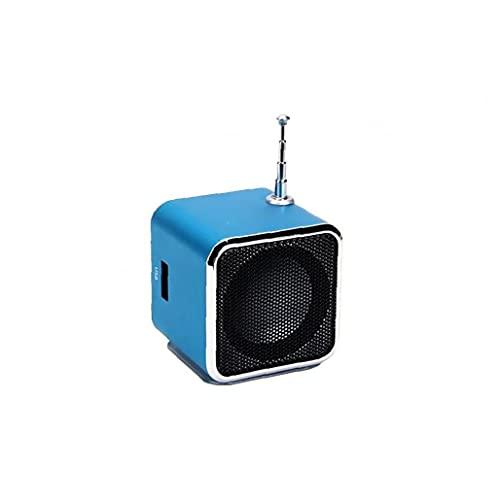 Tuimiyisou Mini Altavoz portátil TD V26 LCD Digital de Sonido Micro USB del SD TF del Altavoz estéreo de FM de Radio de música compatibles con el teléfono móvil portátil de MP3 Azul