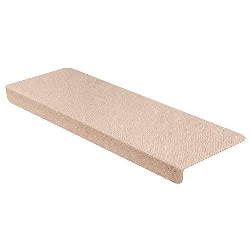 StickandShine Stufenmatte in Creme eckig für Treppenstufen, Treppenstufenmatte zum aufkleben