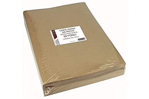 Florio Avana Carta Imballo, 80 gr, 140 x100 cm, Confezione da 50 fogli