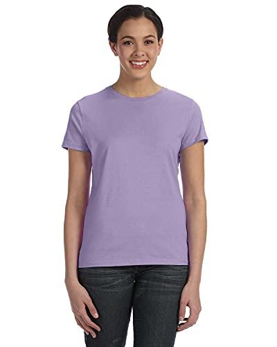 Hanes Classic-Fit Jersey Women's T-Shirt 4.5 oz, M-Lavender