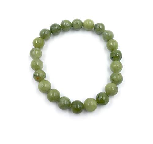 Irish Connemara Marble Bracelet with Round Stone Beads