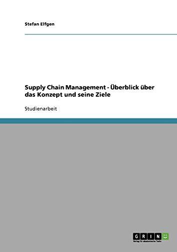 Supply Chain Management - Überblick über das Konzept und seine Ziele