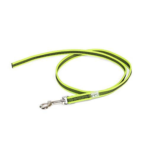 Julius-K9 Color & Gray Super-Grip Leash Without Handle, 14 mm x 1 m, Neon-Gray, 46 g