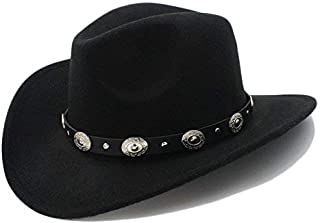 Vintage Western Cowboy Hat with Wide Rim Punk Easy to Match Cowgirl Jazz Cap with Sombrero Cap 23 A Variety of Styles (Col...