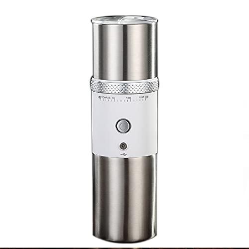 Macinacaffè macchina da caffè portatile,macchina per espresso portatile, mini macchina da caffè in acciaio per casa ufficio, viaggio, campeggio,spessore del caffè regolabile (bianco)