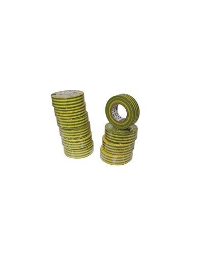 Nitto 1040Vjpc nastro isolante 19mm x 10m verde/giallo Dimensioni