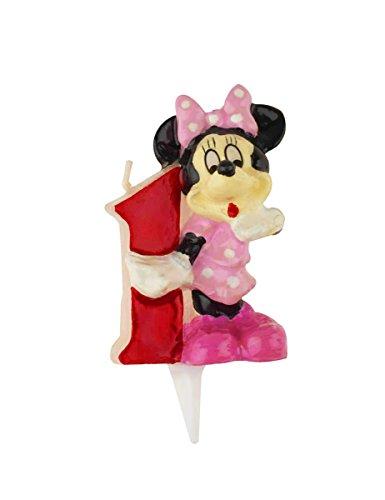 Dekora - Candela Di Compleanno Per Bambini Numero 1 Minnie Mouse (346147)