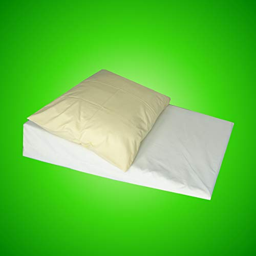 OrthoTec Large Acid Reflux Foam Bed Wedge Pillow, Mattress Tilter, Reflex Foam, Stomach Acid, Gerd, Heartburn, with Polycotton Cover.