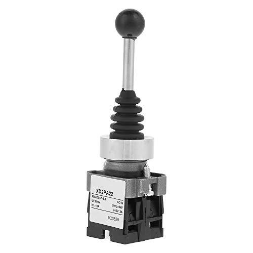Interruptor de palanca de mando momentáneo, 1 pieza XD2PA22CR 2NO Interruptor de palanca de mando de palanca de mando momentáneo de retorno por resorte de 2 posiciones
