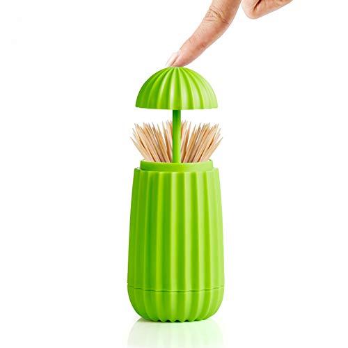 LCHENFA Toothpick Holder Cactus Shape Toothpicks Dispenser Frame Kitchen Gifts Decorate(Green)