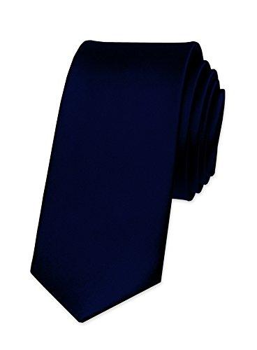 Autiga Autiga Krawatte Herren Hochzeit Konfirmation Slim Tie Retro Business Schlips schmal, Schwarzblau, unisize