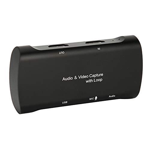 Lazmin112 Tarjeta de Captura de Juegos de Audio y Video, Grabadora de Juegos con transmisión en Vivo con Loop 1080P 60FPS Interfaz Multimedia de Alta definición para transmisión de Juegos Grabación