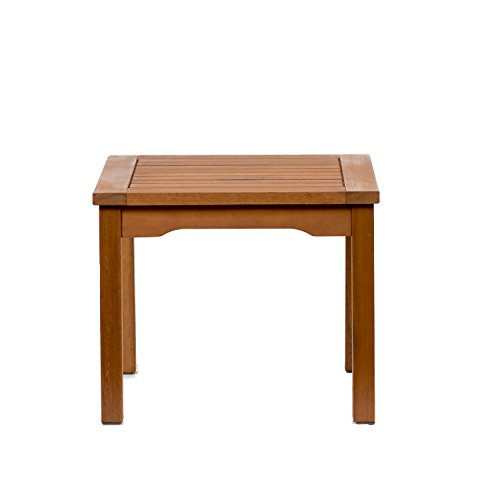 Amazonia Square and Durable Side Table |Super Quality Eucalyptus Wood| Perfect for Patio and backayard