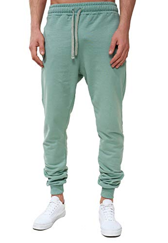 OneRedox Herren | Jogginghose | Trainingshose | Sport Fitness | Gym | Training | Slim Fit | Sweatpants Streifen | Jogging-Hose | Stripe Pants | Modell 5000C (XL, Sea Green)