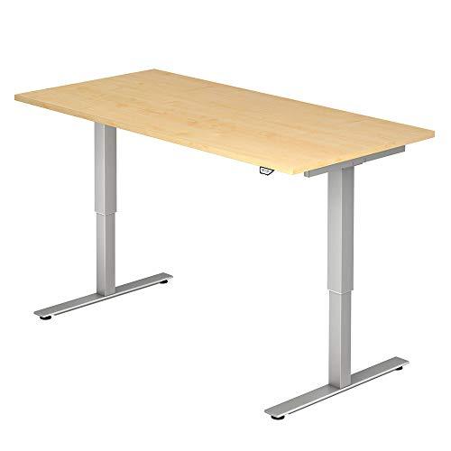 A-Series Elektrisch höhenverstellbarer Schreibtisch AS1258 mit Memoryschalter, Tischplatte 160x80cm (AHORN)