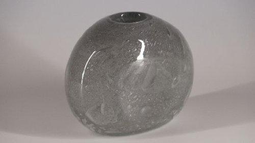 Glasfeld, Grau, transparente, Sommerso, Glas, Vase, Murano, Design, Handarbeit