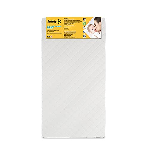 Safety 1st Heavenly Dreams Deluxe Dual 2 In 1 Baby Crib and Toddler Mattress
