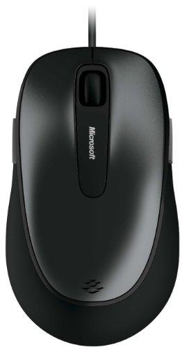マイクロソフト マウス 有線/USB接続/5ボタン/人間工学デザイン グレー Comfort Mouse 4500 4FD-00029