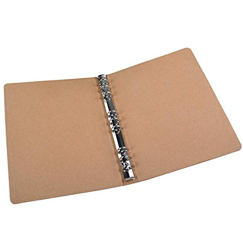 B5 Binder Vertikal Ordner Platz Skizzen Plain Kraft Ordner Multifunktions-DIY-Abdeckung Abnehmbare Metallringbuch mit 9 Löchern