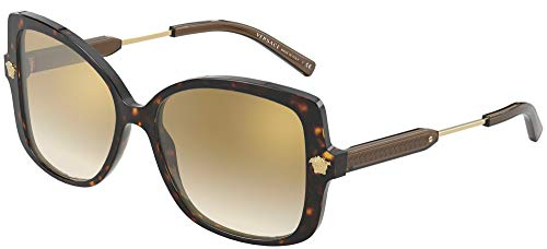 Versace MEDUSA VE 4390 DARK HAVANA/BROWN SHADED 56/16/140 Damen Sonnenbrillen