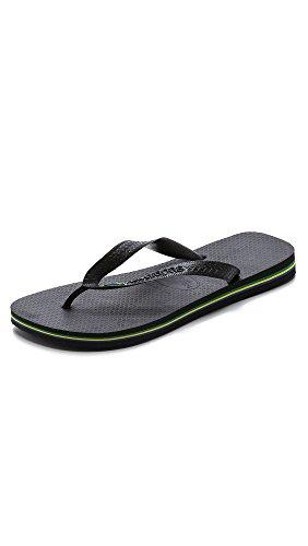 Havaianas Men's Slim Crystal Glamour SW Sandal Flip Flop, Black, 11-12