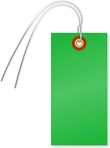 SmartSign Blank Tyvek Shipping Tags with Wire, Size #5 | 4 3/4