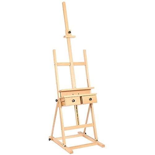 Caballete multifuncional Caballete plegable de madera Soporte de boceto Sketching Sketching Facility With Drawer Suelo Levantamiento Easel Ampliamente utilizado, soporte de exhibición multifuncional 5