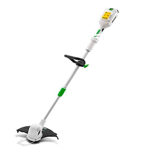 Review MLXG Portable Electric Grass Trimmer,128-172 cm Retractable and Dual Control Switch for Garde...