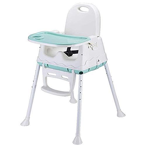 Hautes Chaise for Bébé, Siège Rehausseur for Enfant avec Bac d'alimentation Amovible, Ceinture De Sécurité Trois Points (Color : Green, Size : Without Wheel)